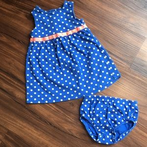 Carter's Polka Dot Dress with Bloomers